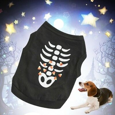 PET DOG CAT HALLOWEEN COSTUME PET PUPPY T SHIRT HOODIE OUTFIT CLOTHES APPAREL