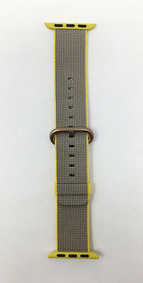 Apple Watch Woven Nylon Band 38mm YellowLight Gray with Rose Gold Buckle - VG