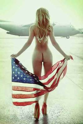 FLOWN FLAG - SEXY PINUP POSTER 24x36 - HOT MODEL BENITO 52419