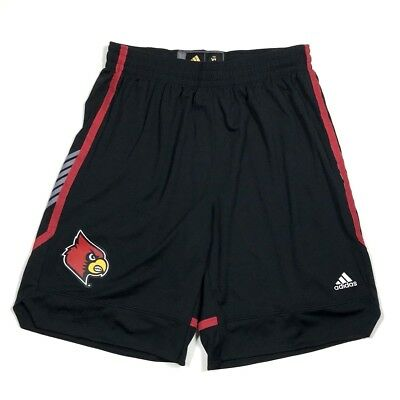 Mens adidas Louisville Cardinals Black March Madness Replica Shorts XL