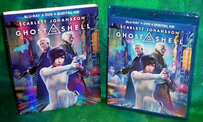 NEW SCARLETT JOHANSSON GHOST IN THE SHELL BLU RAY DVD MOVIE - SLIPCOVER 2017