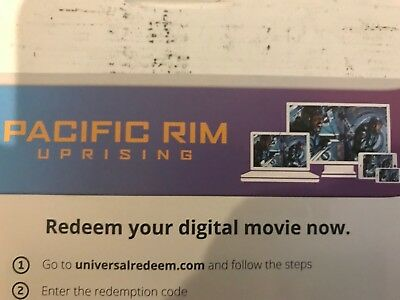 Pacific Rim Uprising digital copy From Blu Ray Combo Pack