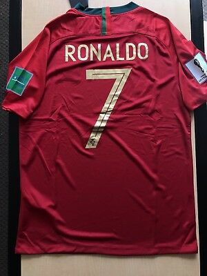 RONALDO 7 Portugal World Cup Jersey Size Large Authentic Replica