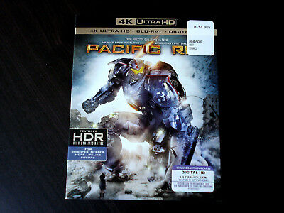 pacific rim 4k blu-ray with slipcover lot fun movie brand new sealed