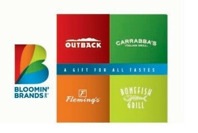 125 Gift Card for Outback Steakhouse Bonefish Grill Carrabbas - Flemings