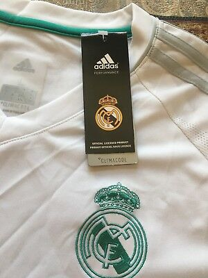 Adidas Real Madrid 2018 TrainingWarm Up Tee Adizero W Tags Ronaldo Ramos Bale