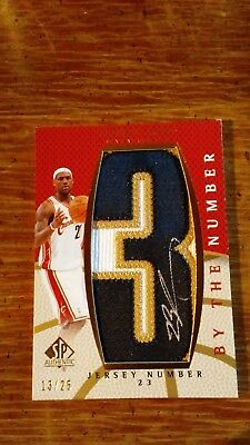 Lebron James 2007-08 SP Authentic By the Number AUTO Patch 3 BN-LJ SER 1325