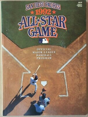 1992 ALL STAR GAME PROGRAM MLB SPECIAL BABE RUTH BASEBALL CARD INCLUDED 7238