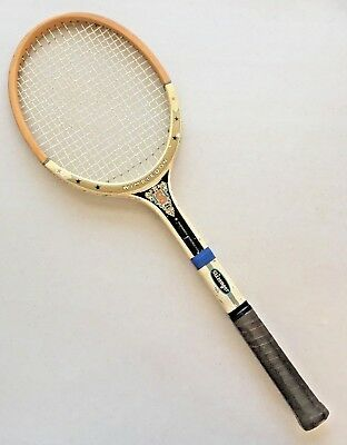 Vintage Slazenger Royal Wimbledon Tennis Racquet Wood Powermatic Made in England