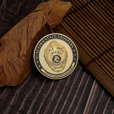 COMMEMORATIVE COINS COLORED GOLD COINS US STATE SERIES ALASKA POLICE DEPARTMENTG