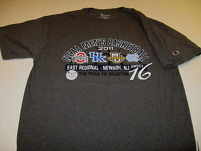 NCAA Basketball 2011 East Region Sweet 16 Road to Final Four Houston T-Shirt  LG