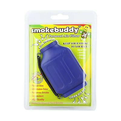 Smoke Buddy Junior Personal Air Purifier Cleaner Filter Removes Odor Blue