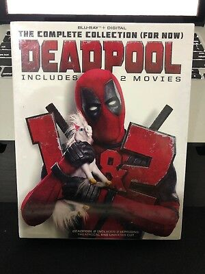 DEADPOOL 1 - 2 The Complete COLLECTION Blu-Ray - Digital - SLIPBOX - Free Ship