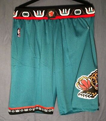 Memphis Grizzlies Vintage NBA Basketball Jersey Shorts Stitched GreenTeal NWT