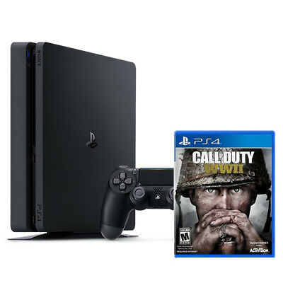 PlayStation 4 Slim 1TB Console and Call of Duty WWII