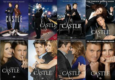 CASTLE the Complete Series on DVD Seasons 1-8 - Season 1 2 3 4 5 6 7 - 8 NEW