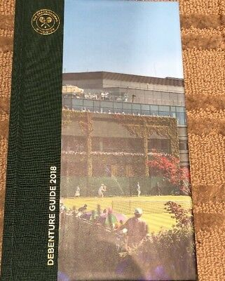 Official 2018 Wimbledon 83 Page Debenture Guide Hardcover New Mint Condition