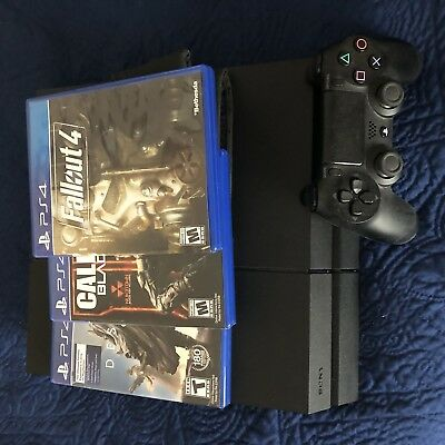 PlayStation 4 Console 500 GB INCLUDED CONTROLLER CORDS 3 GAMES