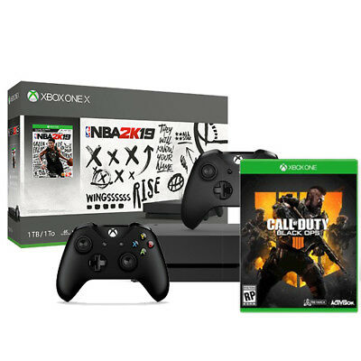 Xbox One X NBA 2K19 1TB  - Call of Duty Black Ops 4 - Extra Xbox Controller