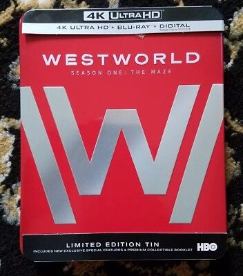 Westworld Season 1 The Maze 4K UHD Limited Edition Tin 6 Disc Set- LIKE NEW