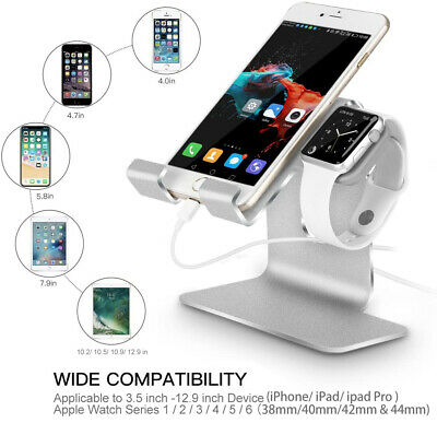 iPHONE IPAD Stand Apple Watch Charging 2 in 1 dock station charger desk Holder