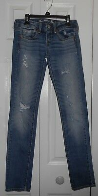 American Eagle Outfitters Distressed Stretch SKINNY Jeans Size 0 reg