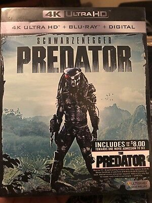 Predator 4K Ultra HD Blu-ray Digital Arnold Schwarzenegger Jesse Carl Duke Alien