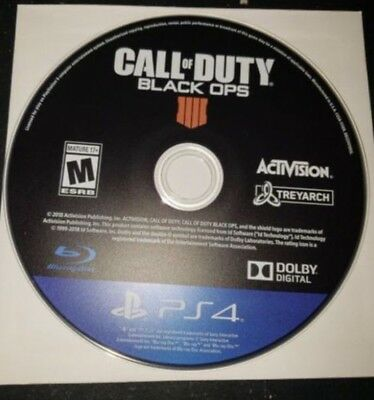 Call of Duty Black Ops 4 Ps4 Disc Only