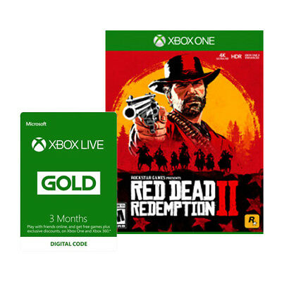 Red Dead Redemption 2 - Xbox One - Xbox Live 3 Month Gold Membership PRE-ORDER