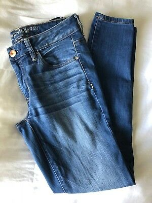 American Eagle Outfitters Womens Jeggings Ankle Distressed Super Stretch Size 8