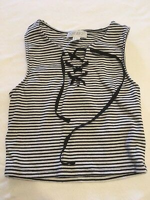 Black And White Tank Top Forever 21 Size Small
