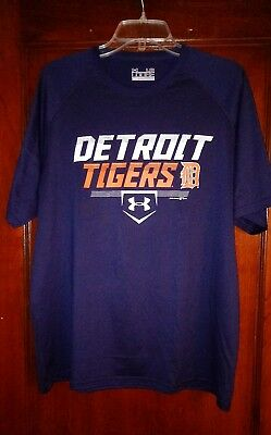 Detroit Tigers Baseball Under Armour Shirt Loose Large Mens Large