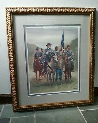 CIVIL WAR PRINT LEE THE ENEMY IS THERE MORT KUNSTLER signed and numbered
