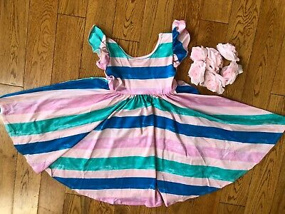 NWT Dot Dot Smile Twirly Summer dress Girls Empire Pastel Stripes