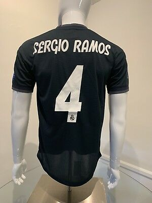 Sergio Ramos Player Version Jersey Real Madrid Away Small