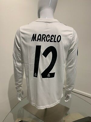 Marcelo Long Sleeve Jersey Real Madrid Home Medium