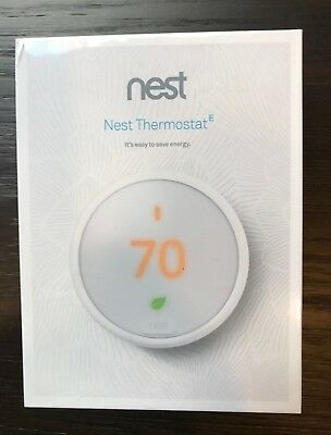 Nest Thermostat E White 24-Bit Color LCD Smartphone Connectivity FAST SHIPPING