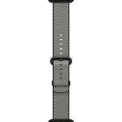 Genuine Apple Woven Nylon for Apple Watch 38mm Black Check wSpace Gray Buckle