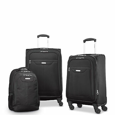 Samsonite Tenacity 3 Piece Luggage Set - Black Blue 25 21 Backpack