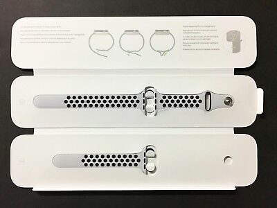 Genuine Apple - Nike Sport Band for Apple Watch 38mm Pure PlatinumBlack