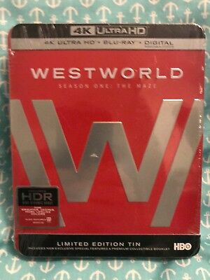 Westworld The Complete 1st Season Steelbook 4K Ultra HD Blu-ray 2017  NEW