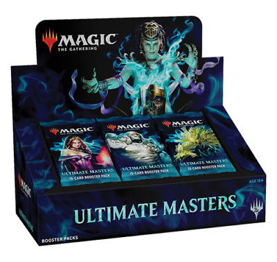 MTG Ultimate Masters Booster Box w Box Topper New Sealed Ships 12-7 Priority