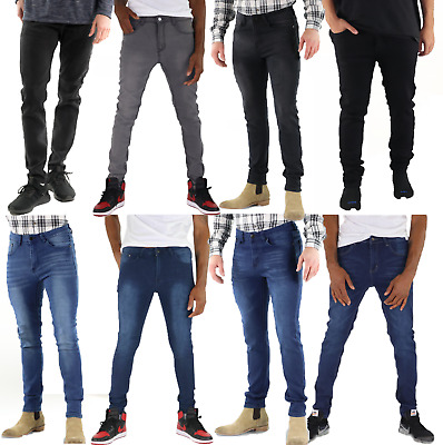 Mens Slim Skinny Fit Jeans Super Stretch Denim Pants Casual Hipster Jeans Mason