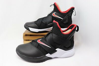 Nike Lebron Soldier XII 12 Basketball BRED Black Red White AO2609-001 Mens NEW