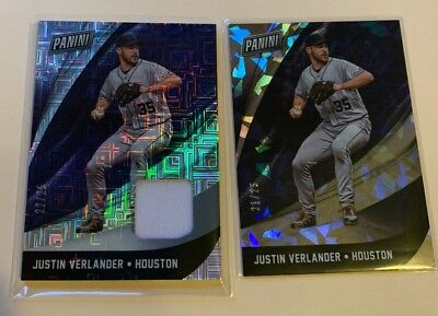 2018 Panini Black Friday Baseball Lot 2 Justin Verlander Parallels 25