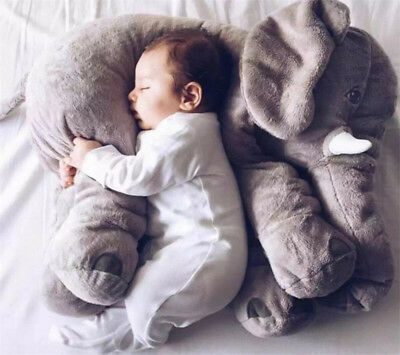 Elephant Stuffed Animal Plush Toy for Children Kids Baby Bed Pillow Cushion Gift