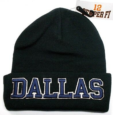 Dallas Cowboys Team Color 3D Direct Embroidered Beanie Knit Cap hat