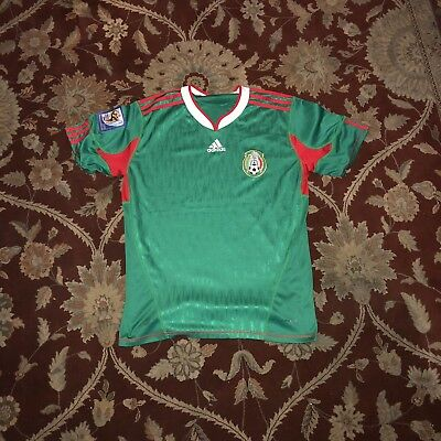 Adidas Mexico Jersey 2010 World Cup Patch Size Medium Mens Used