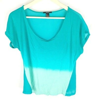 Forever 21 T2-10 Womens Small Blouse Ombre Sheer Back