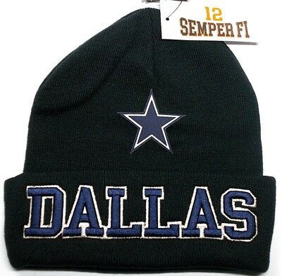 READ LISTING Dallas Cowboys Flat Logo on Embroidered Beanie Knit Cap hat